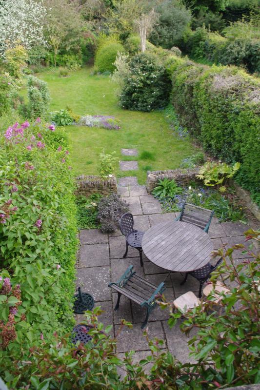 Patio and garden from bedroom windows