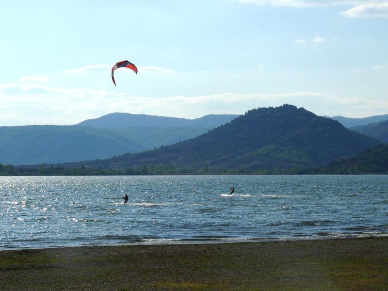 Kite Surfing on Lake Salagou