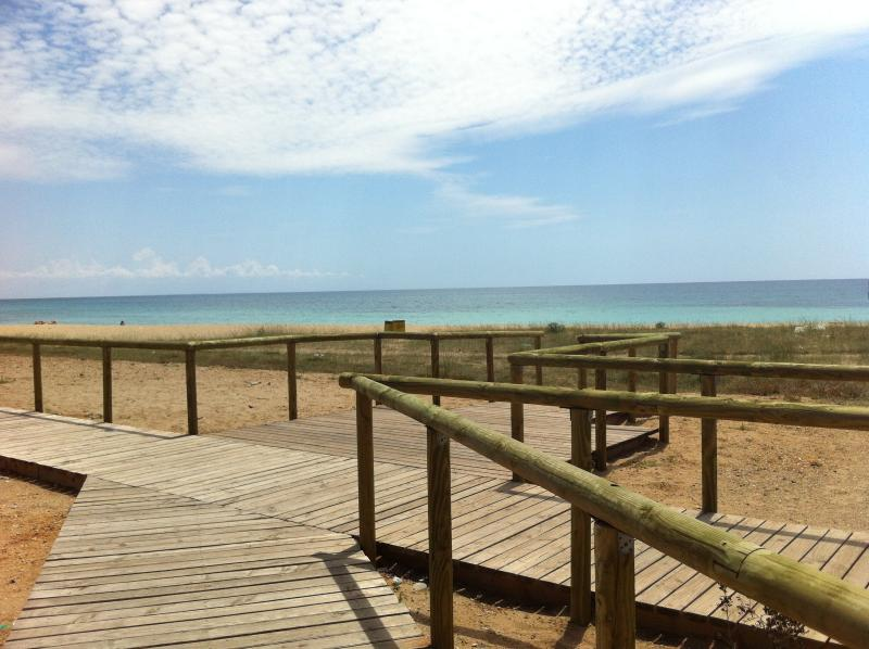 Campomarino boardwalk nature trail on the beach access to 50 mt. by app. CURLY