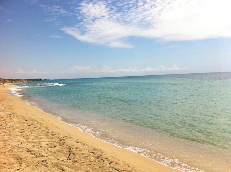 La spiaggia dorata ed il mare 'caraibico' dai 7 colori di Campomarino a 50 mt. da'Cas