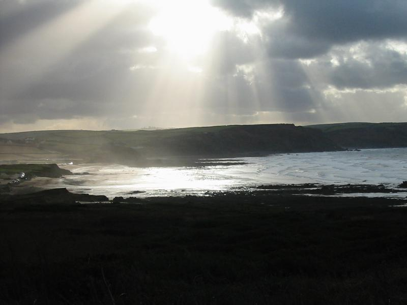 Looking over Widemouth Bay