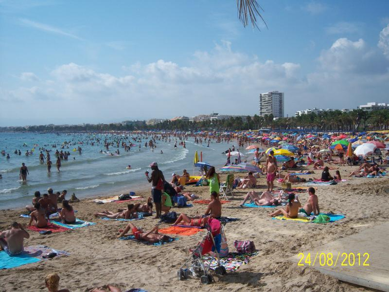 Salou Beach within a 10 minute walk from apartment