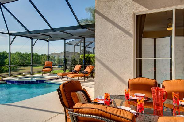 The pool furniture