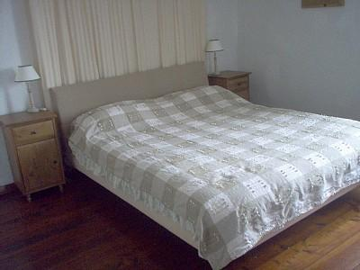 Master Spacious bedroom with King (shown) sprung mattress & memory foam topper. Child's bed