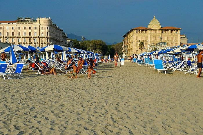 Viareggio - Miles and miles of beaches just over 1 hour by car. Some natural beaches too near Pisa.