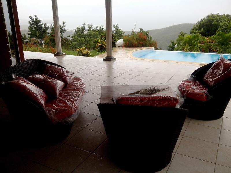 Le salon sur la terrasse