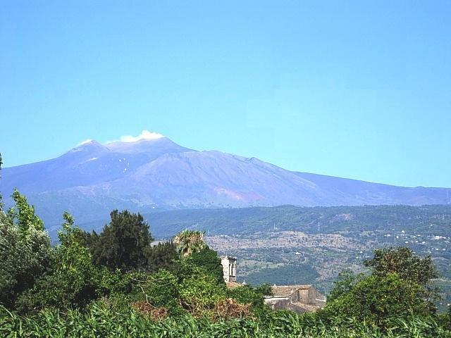 Etna volcano view from residence