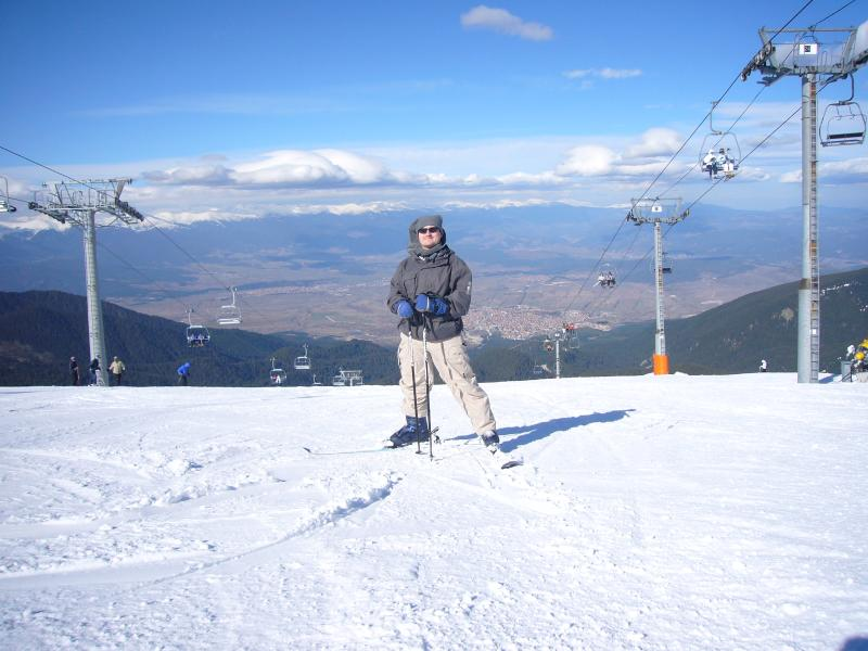 Bansko (& Gab) viewed from the piste!