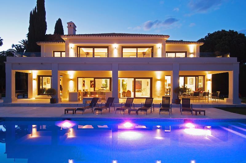 Pool Terrace at Night