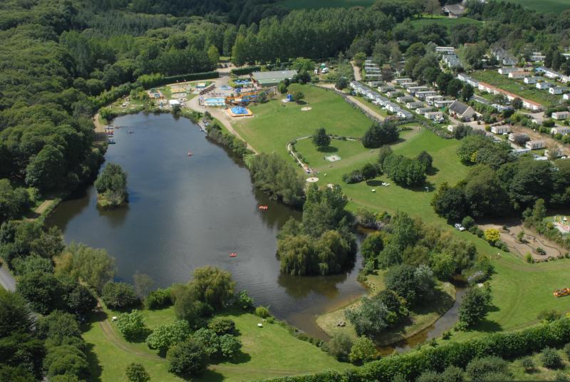 Aerial Shot de parc de loisirs