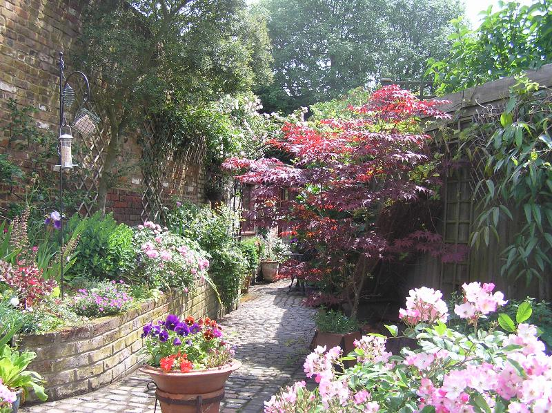 The Garden in June - view towards the Stables