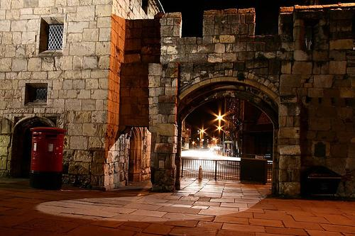 The City Wall is approximately 70m away. The stars in the background is where Minster Bells sits.