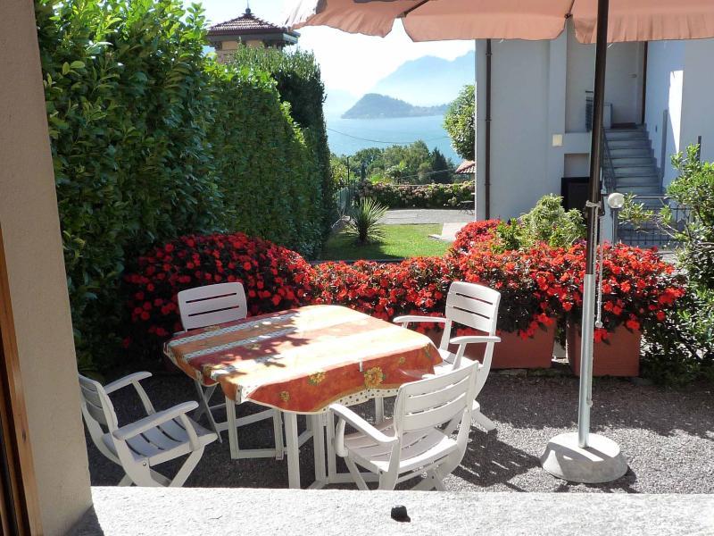 Il giardino privato con vista su Bellagio