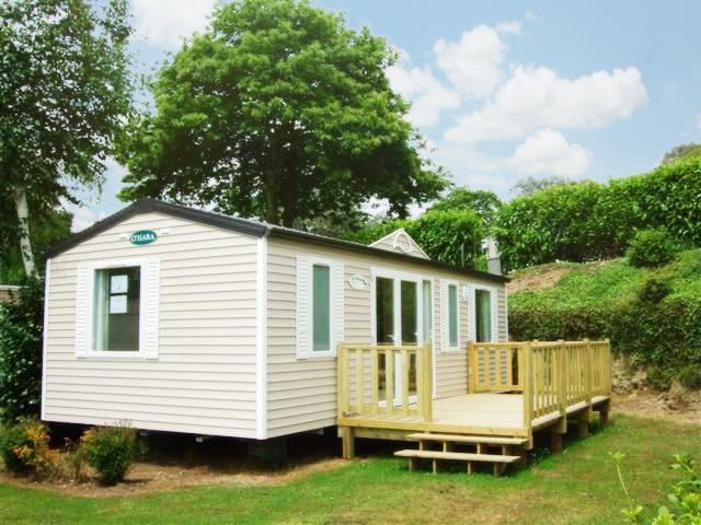 Typique maison mobile de 3 chambres