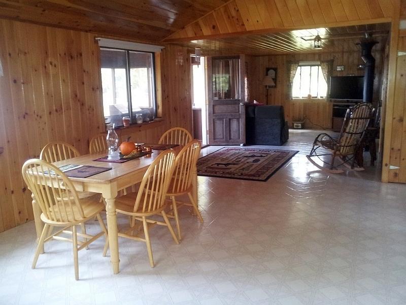 Open plan living room/dining room.
