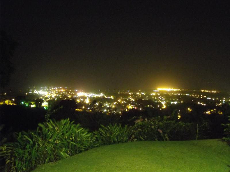 View over the lowlands at night