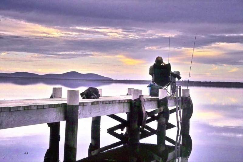 Enjoy fishing swimming & boating off the private jetty