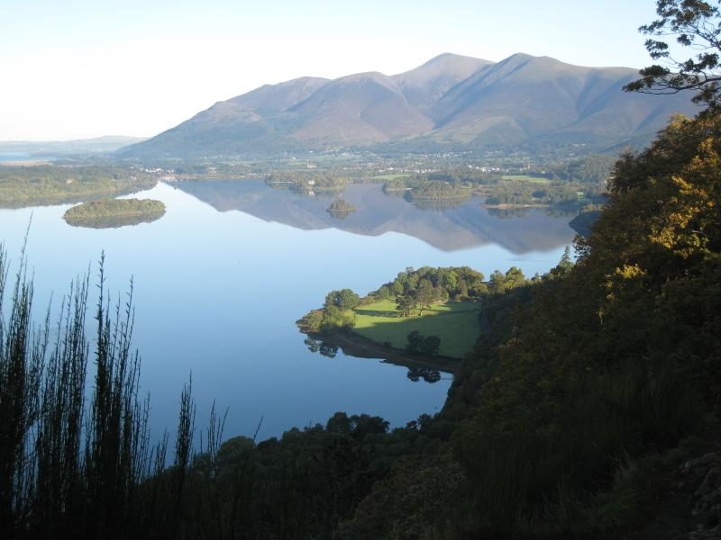 Keswick nestling below Skiddaw on the shores of Derwentwater