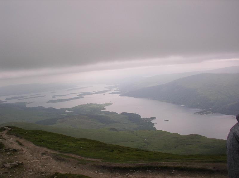 Loch Lomond from Ben Lomond on a typical day!!! Less than 2 hours away.
