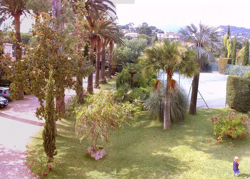 Blick auf der hinteren Terrasse im Garten