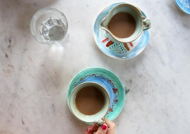 Bali coffee in hand painted ceramics