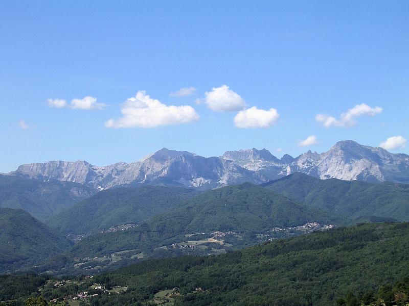 Local view of Apuane mountains