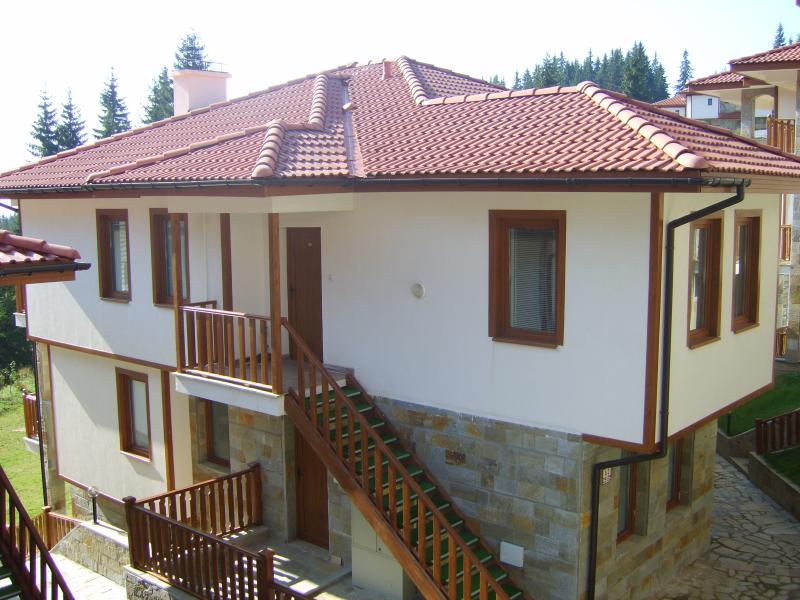 Photo of a chalet taken in August 2008.  complex completed in May 2007