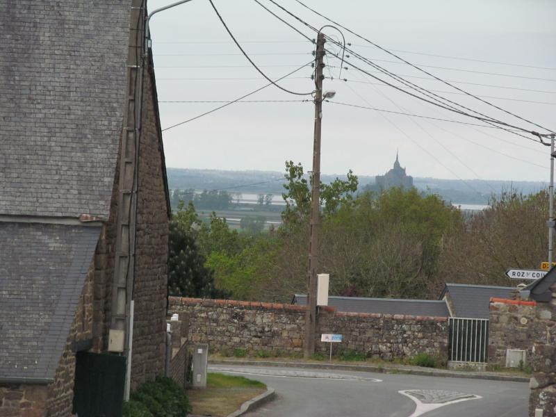 View of Le Mont St. Michel from living room