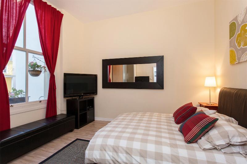 Bedroom, bright large window, king size bed, satellite 42'' TV, wifi, plenty of storage.