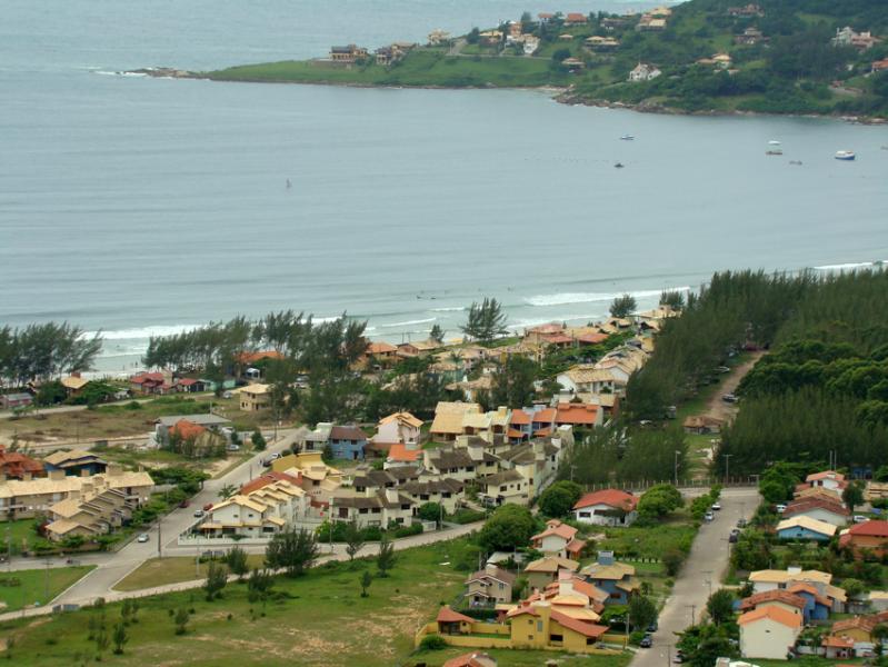 Morrinhos neighborhood seen on the hill
