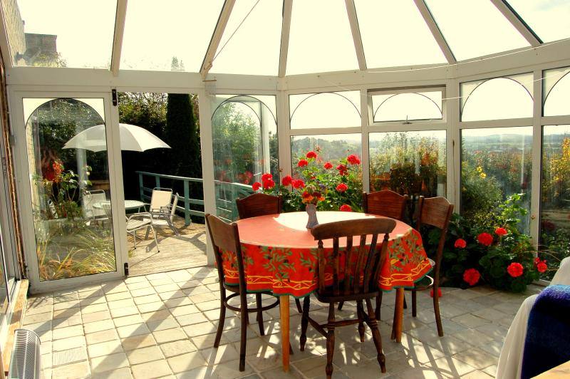 The best placed conservatory in Glastonbury!