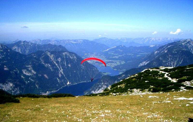 Paragliding on the Krippenstein
