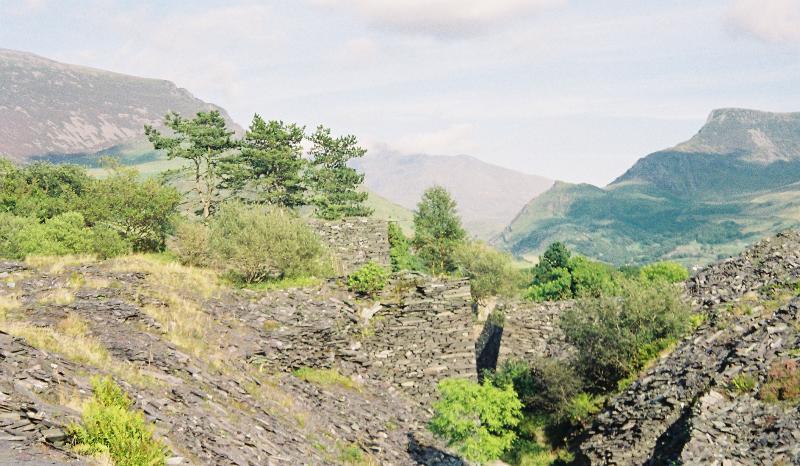 The Dorothea slate quarry, Nantlle