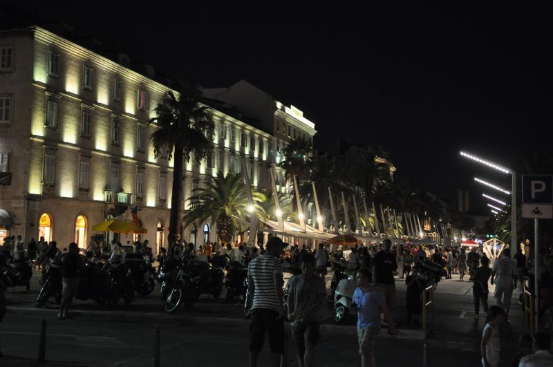 Riva sea port by night