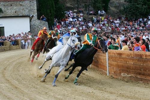 The Palio horse race, 3rd Sunday of June, Piazza Garibaldi,  Castiglion Fiorentino