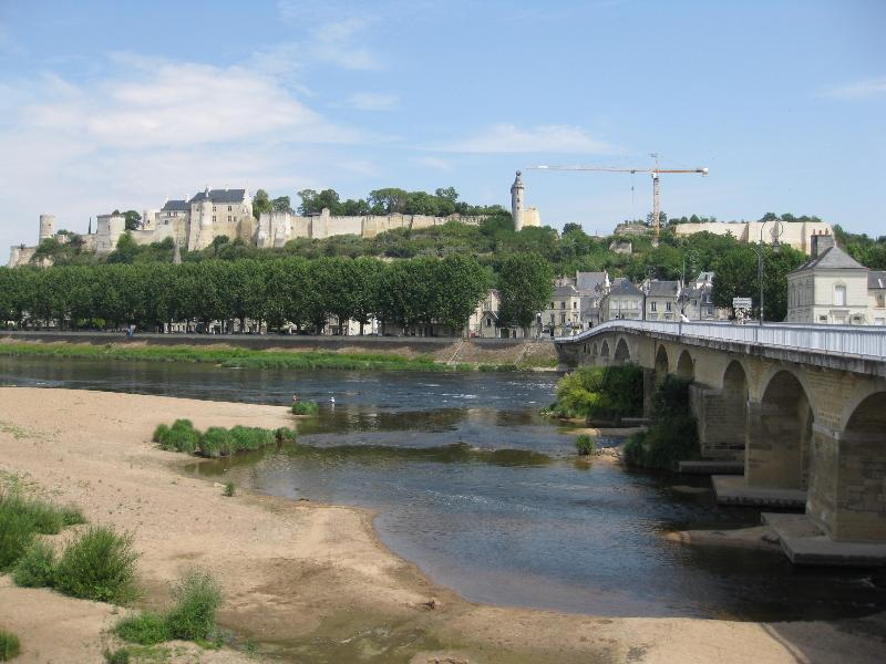Chinon castle and town (new interactive castle visit is a great family outing)