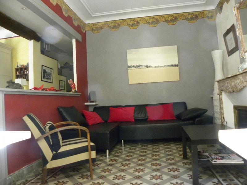 salon tv avec cheminée