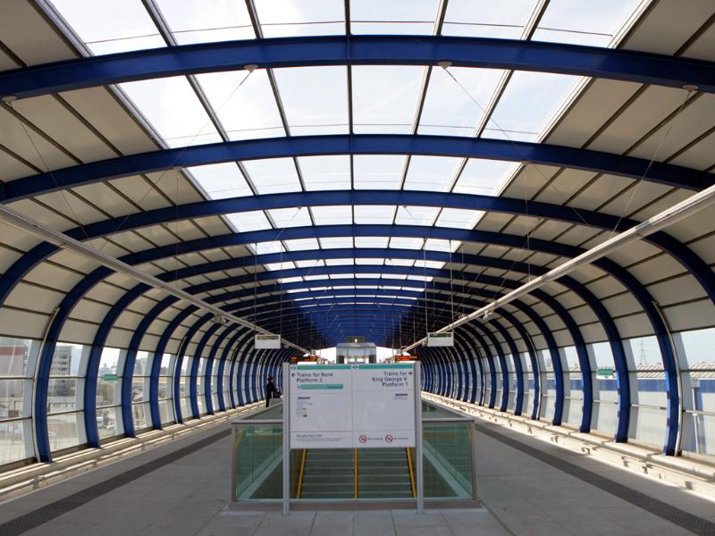 London City Airport DLR Stop.  Connecting you with all of London