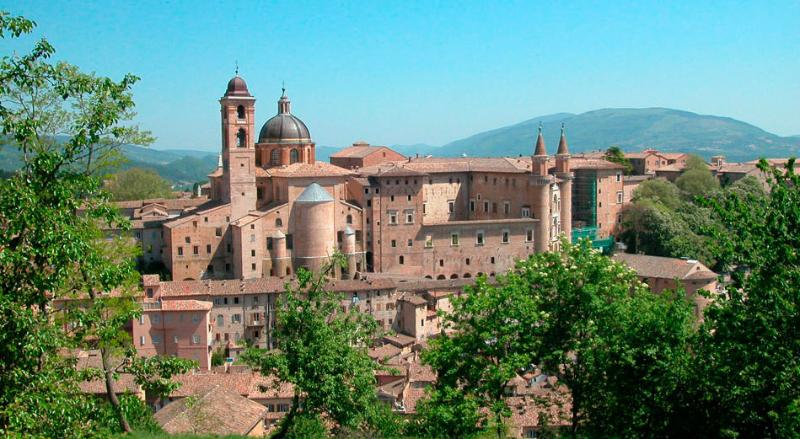 The renaissance town of Urbino - 45 mins by car.