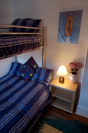 Spacious bunk beds