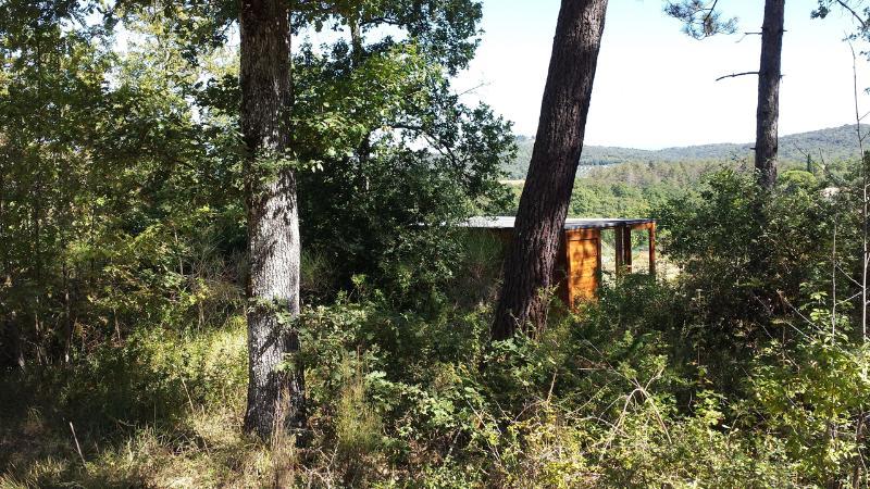 i nostri caravan immersi nel verde, che vi potete godere anche dall'interno, grazie alle vetrat