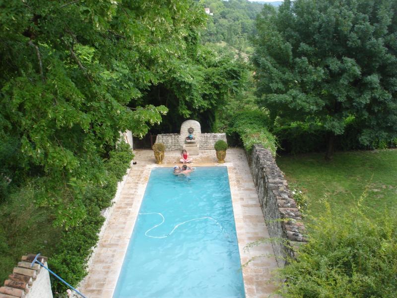 The owners pool next door