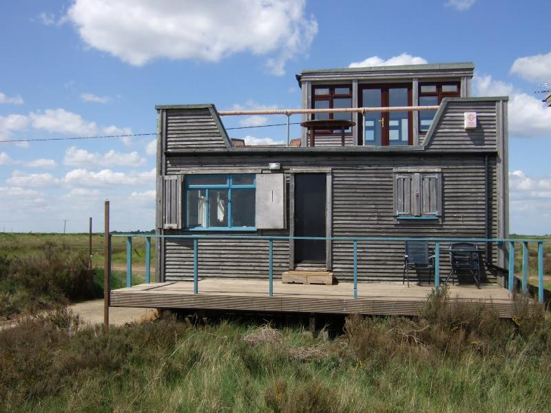 Quirky but comfy house over the sea wall on Essex Sunshine Coast