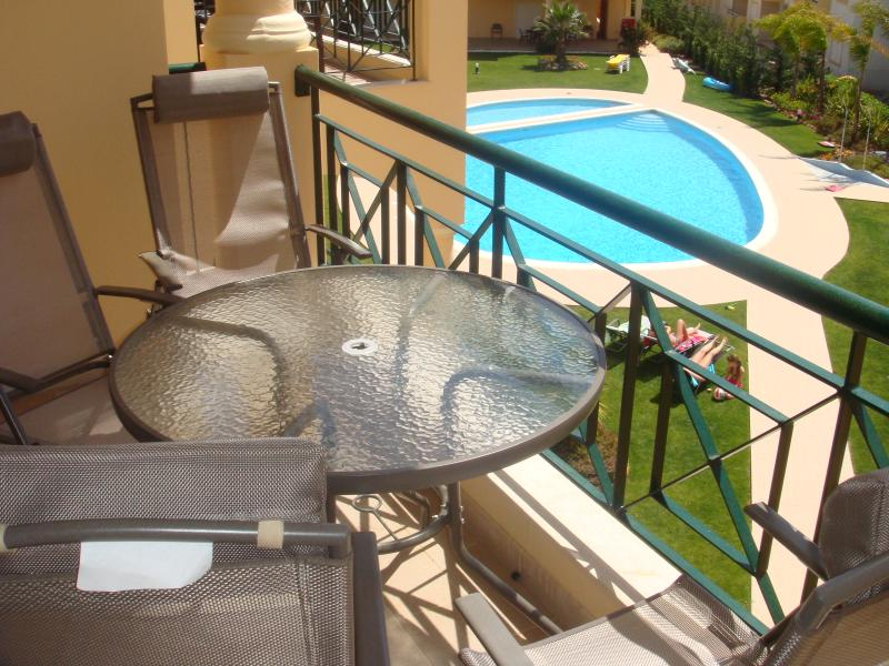 View of private pool from balcony