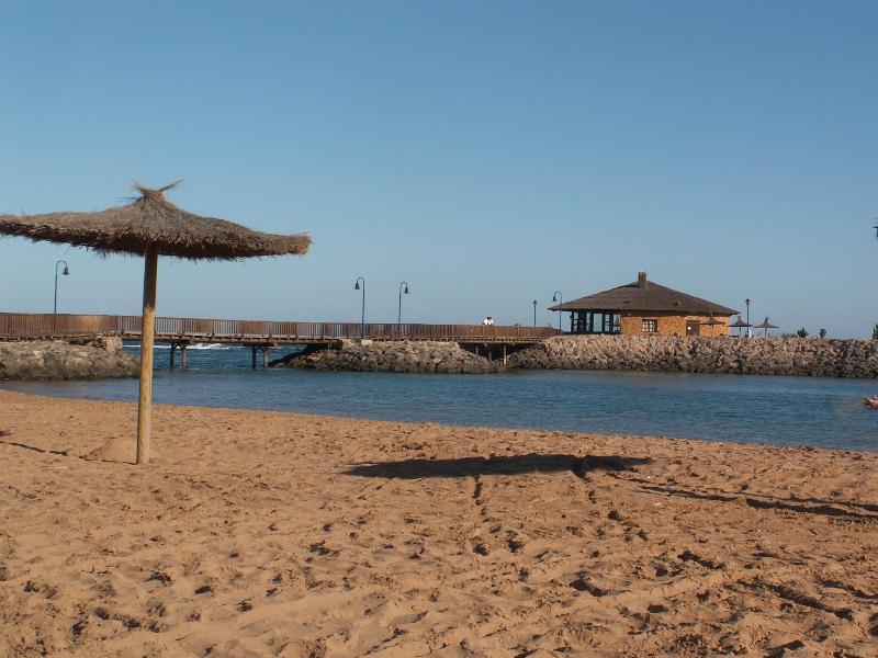Man-made beaches (20 mins walk)