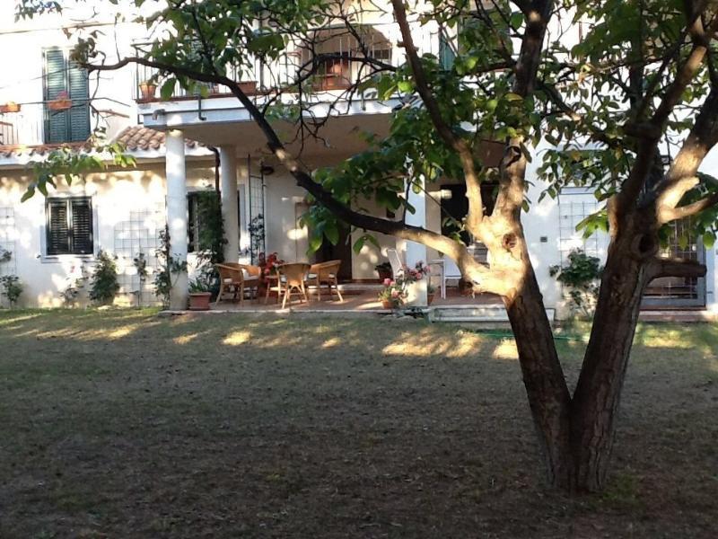 Veduta della casa e del giardino
