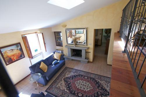 View from the mezzanine to the large comfortable Living Room