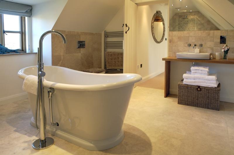 master bathroom through to bedroom