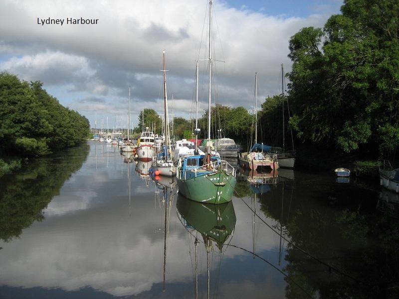 Lydney Harbour, a site of historic interest on the River Severn, with views to the Cotswolds.