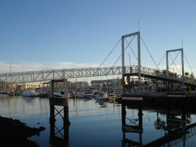 beautiful walkover bridge on route to the beach